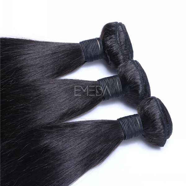 Malaysian hair natural wave double drawn unprocessed wefts  ZJ0046