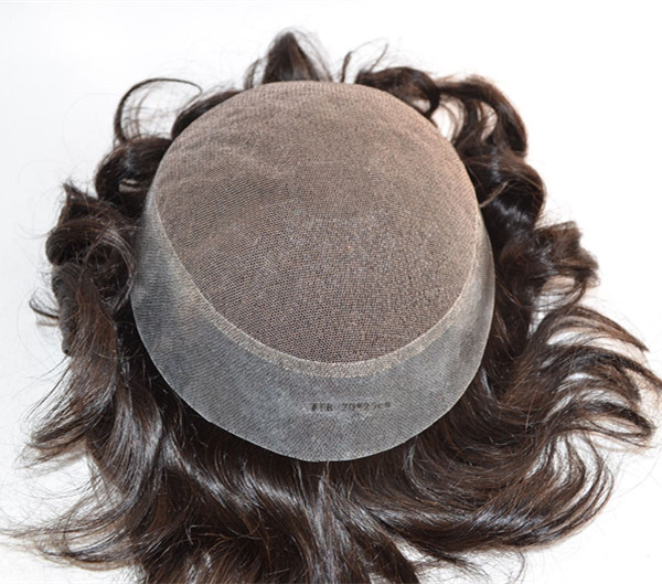 Thin Skin Toupee Human Indian Hair  For Men wigs YL237