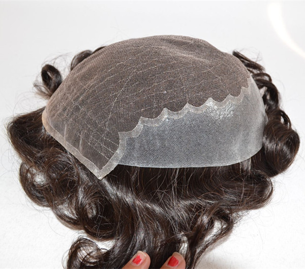 Human Hair Material and  Straight Wave Style toupe...</>