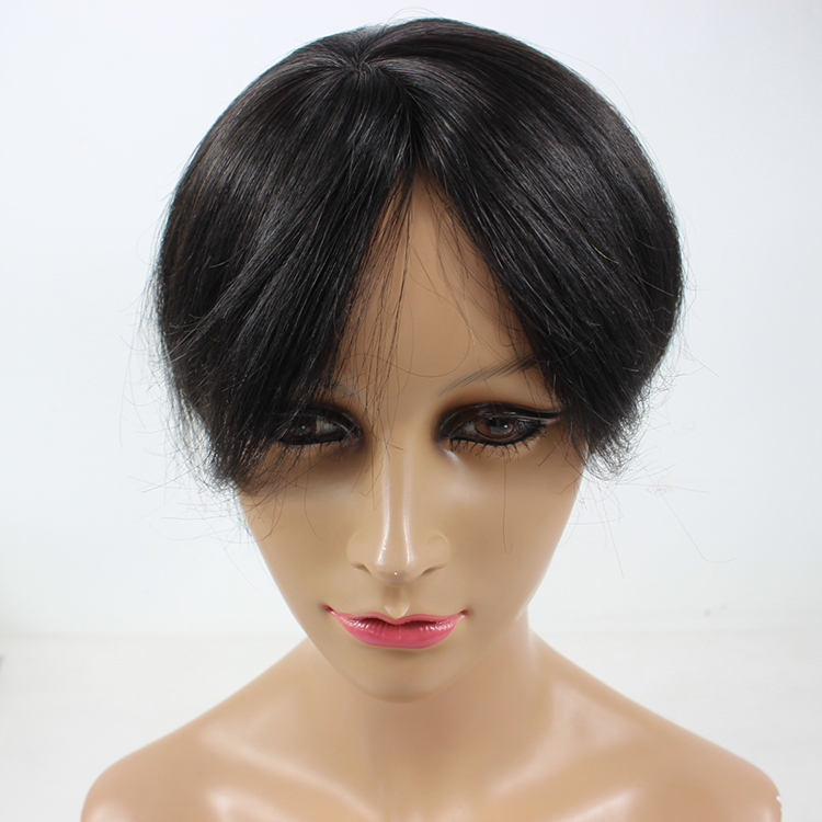 Closure black mens human hair wigs toupee hairpiece SJ00211