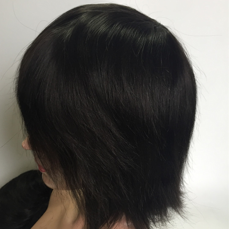 Men Wig Short Straight Natural Hair human hair  Full Wigs Hair Pieces Replacement System YL395