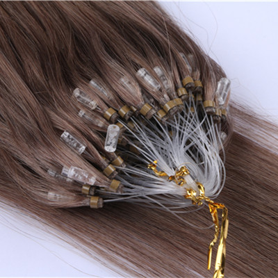 Micro ring loop hair extensions Double Drawn Brazilian 0.5g/0.8g/1g Micro Loop Ring Hair Extension HN227