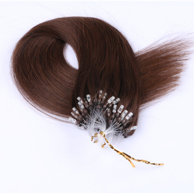 Micro loop ring hair extension Grade 9a virgin hair extension Strong and Soft 100% Indian Human 1g Micro Loop Ring Hair Extension HN231