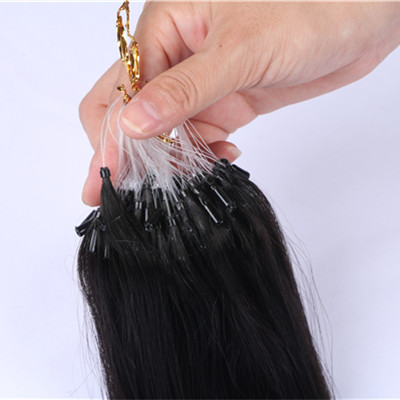 Micro Ring Loop Hair Weft Micro Bead Hair Weft Extensions Micro Loop Weft hair Extension HN235