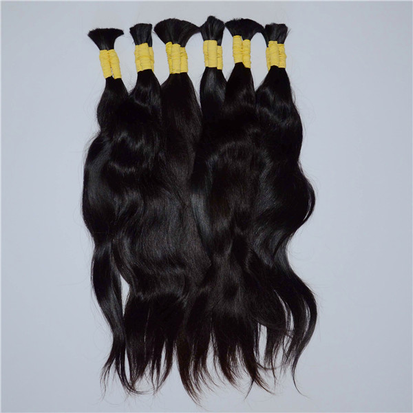 Mongolian natural black wave virgin remy hair extensions WK201