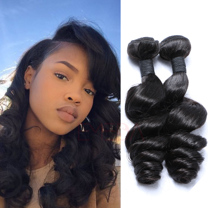 EMEDA Natural hair pieces for women loose wave hum...</>