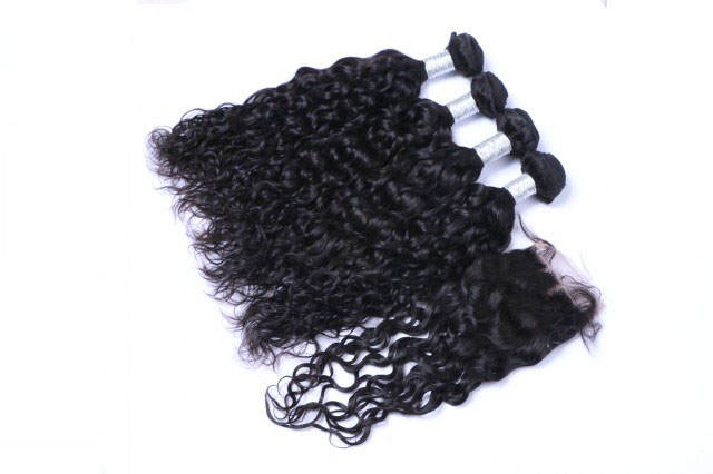 Cheap hot sale tangle free virgin remy hair extensions WJ042