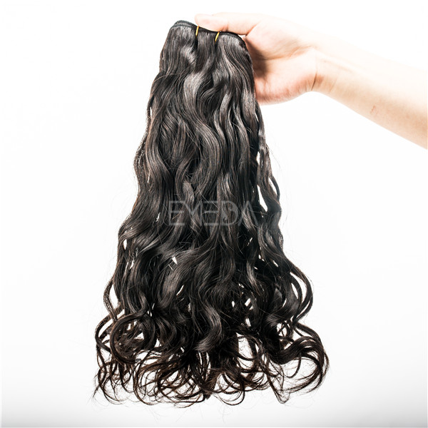 Double drawn Indian natural wave best remy hair extensions to buy YJ51
