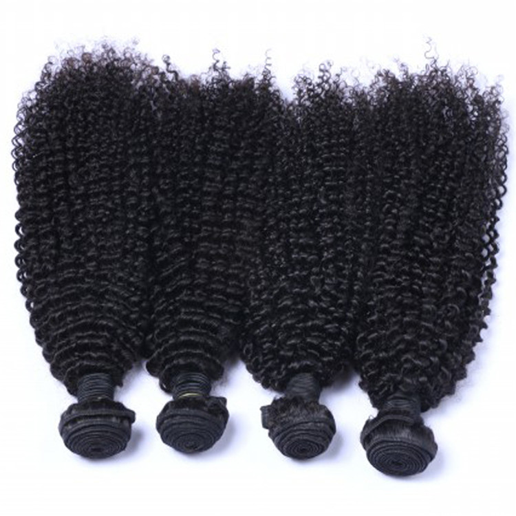 EMEDA Malaysian kinky curly machine wefting hair extensions wholesale QM016