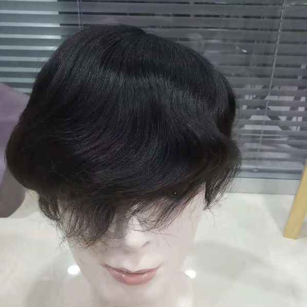 Water wave,once wave men toupee.curly hair toupee,kinky toupee,toupee lace HN295