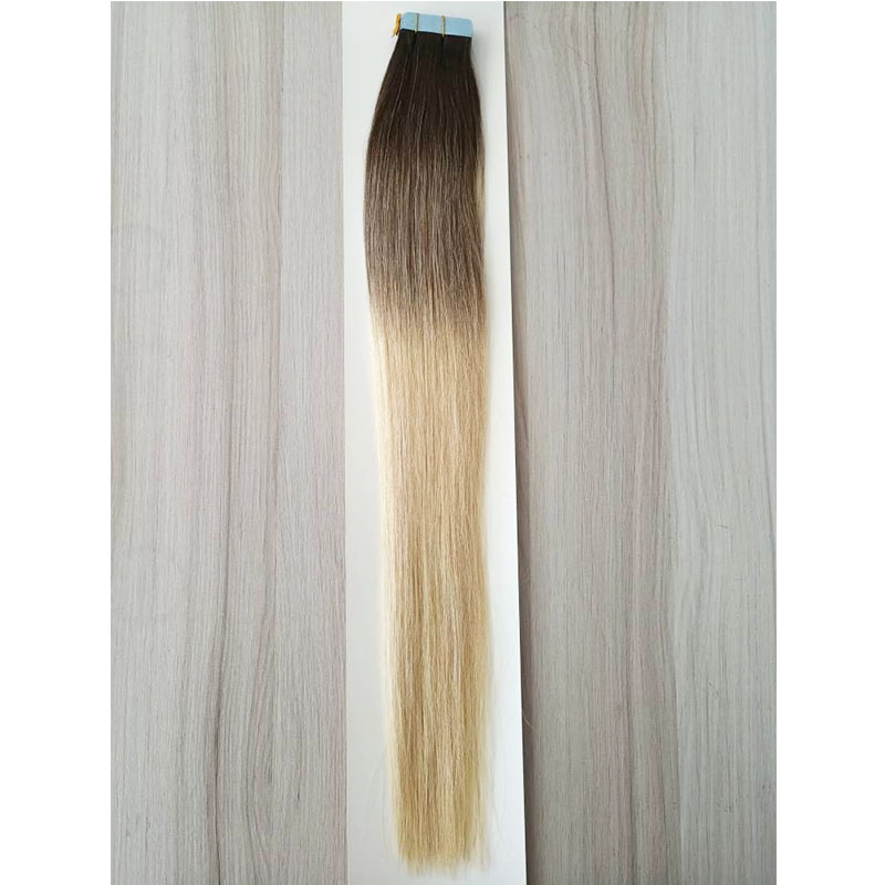 Tape in Hair Extensions Human Hair  Dyed ombre two tone Color 100 gram Per Package  YL310