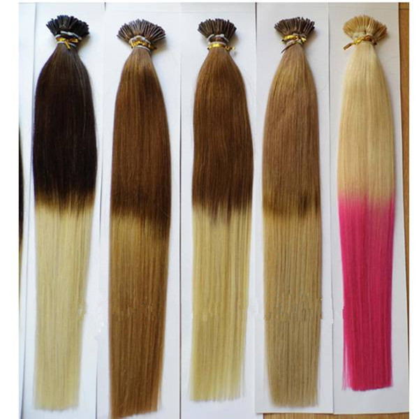 Two tone color prebonded hair for European Users lp88