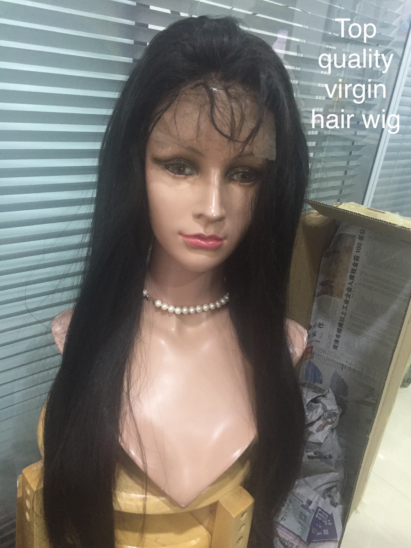 Wholesale Vendors  one donor full lace wig  top quality wigs natural black YL221