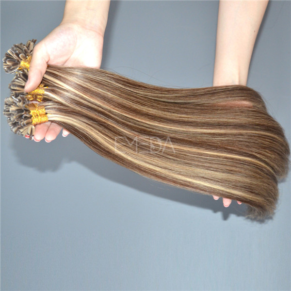 U tip curly hair extensions,u-tip,dropshipping hair extension HN368