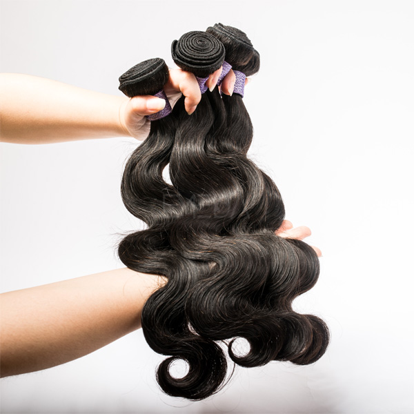 EME factory Human hair weft virgin hair body wave  YL 397