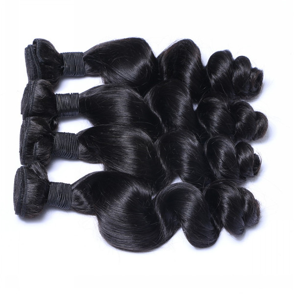 Large Stock Hair Extensions Peruvian Human Virgin Hair Weave Piece    LM083
