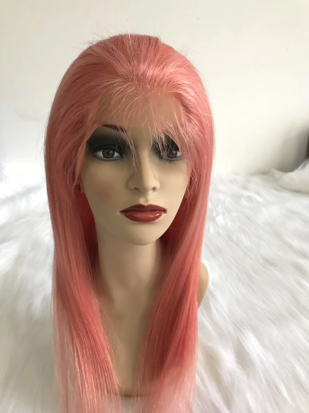 Pink hot sale human hair  wig best selling  wig YL218