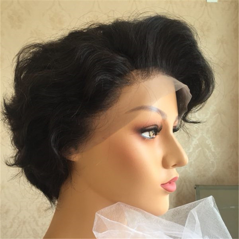 Fashion Pixie Cut Wig Big Curl High Degree Short Length WK145