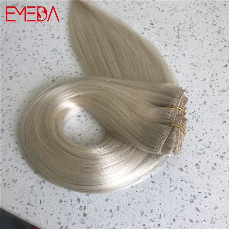 China remy clip in on hair extensions manufacturer suppliers YJ296