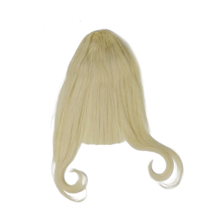 Raw human hair ponytails black and blonde cheap price invisible hair YL495