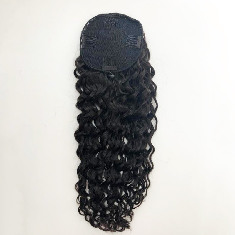 Fashion straight curly   wave human hair ponytail YL409