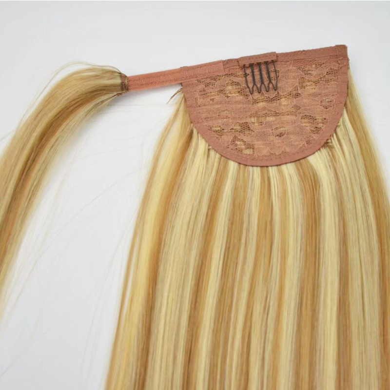 Piano highlight color Human hair virgin ponytails curl straight have colored long hair YL461