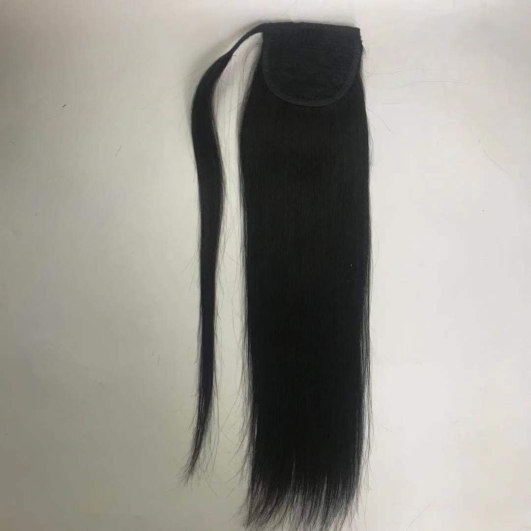 Ponytail with Ribbon with string double drawn long length 22 inch WK242