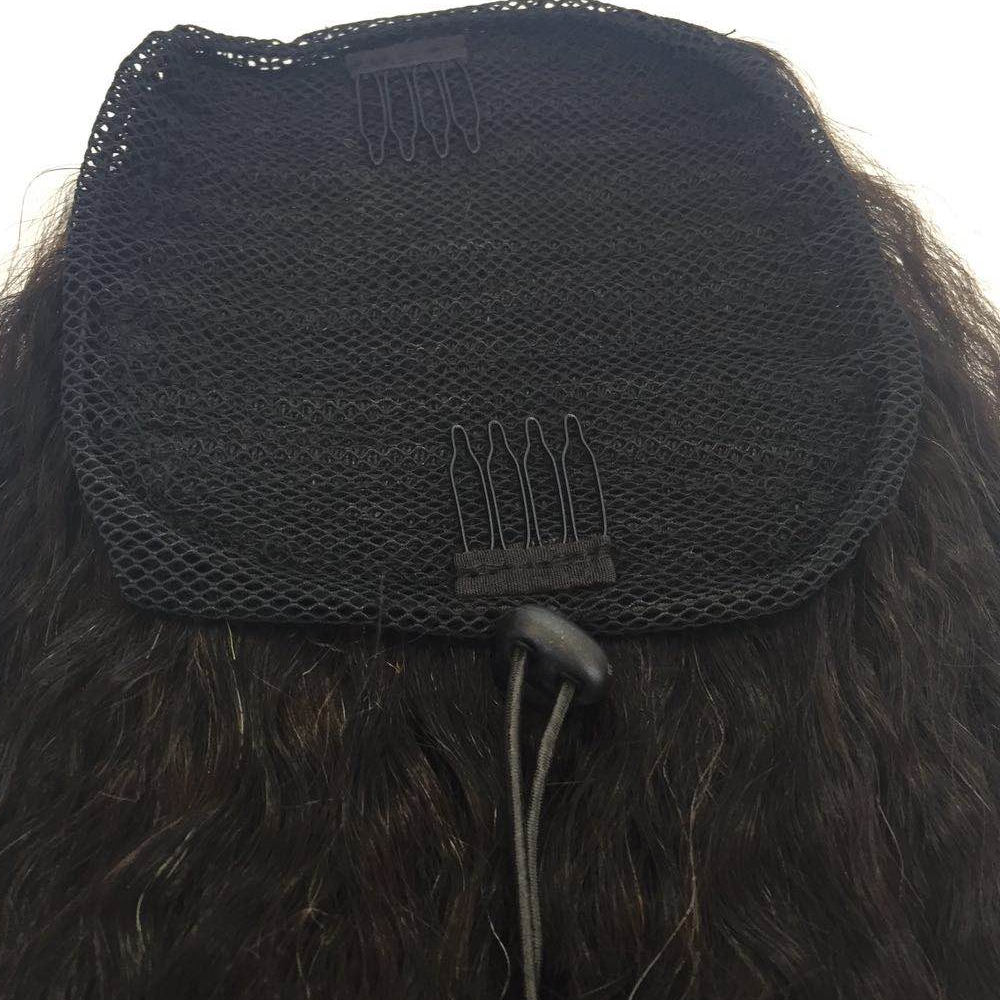 Clip in Ponytail Extension for Women Long Wavy Curly kinky Straight Hair  Pony Tail  Black YL391