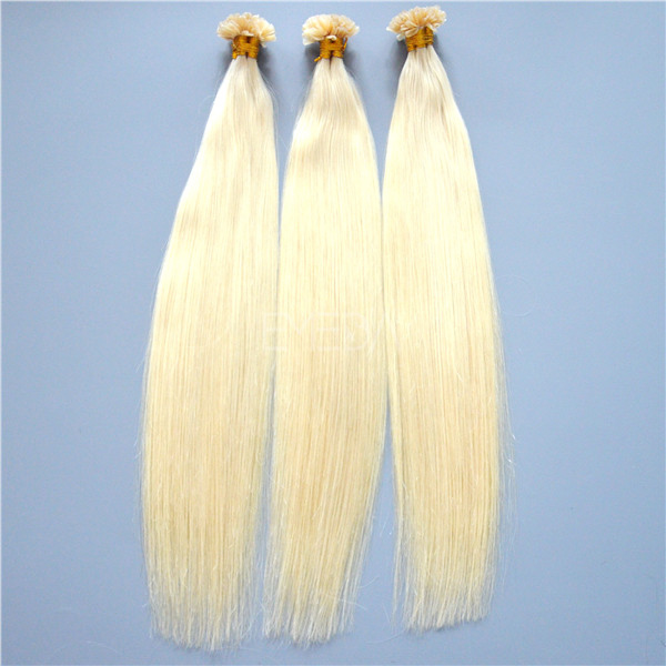 White blonde #60 fusion pre bonded hair extensions wholesale YJ132
