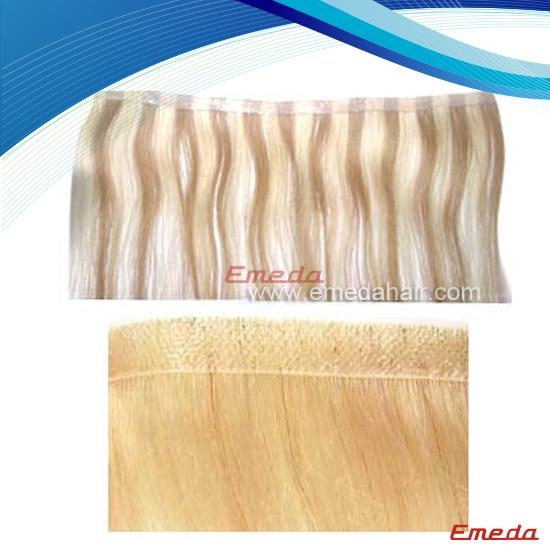 pu skin weft hair extension