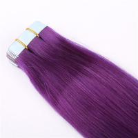 Purple color tape in hair extensions LJ199