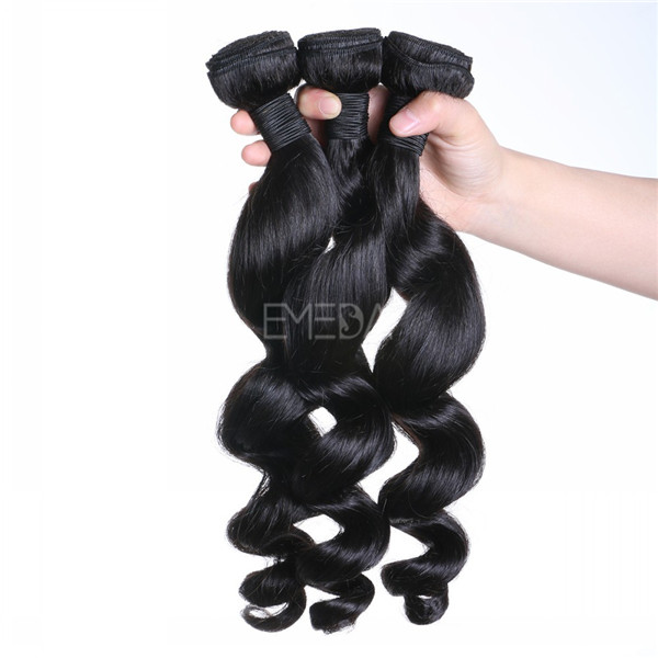 raw unpocessed virgin human hair loose wave hair weave  ZJ0084