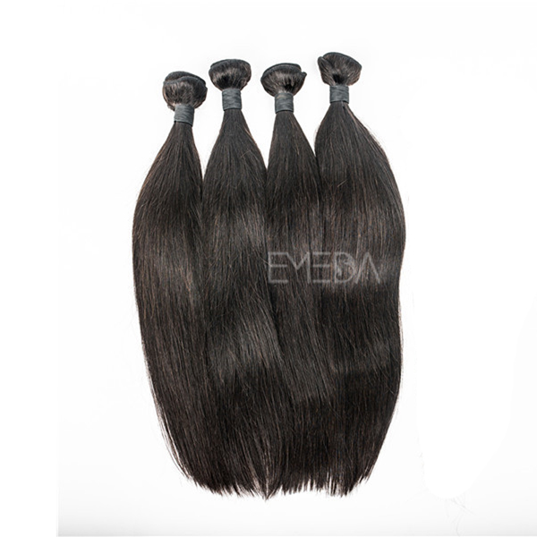 Unprocessed 7A cheap real human hair extensions with closure YJ193