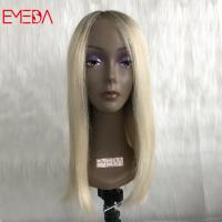 real brazilian hair wigs full lace wig dark roots ombre white blonde virgin cuticle yj281