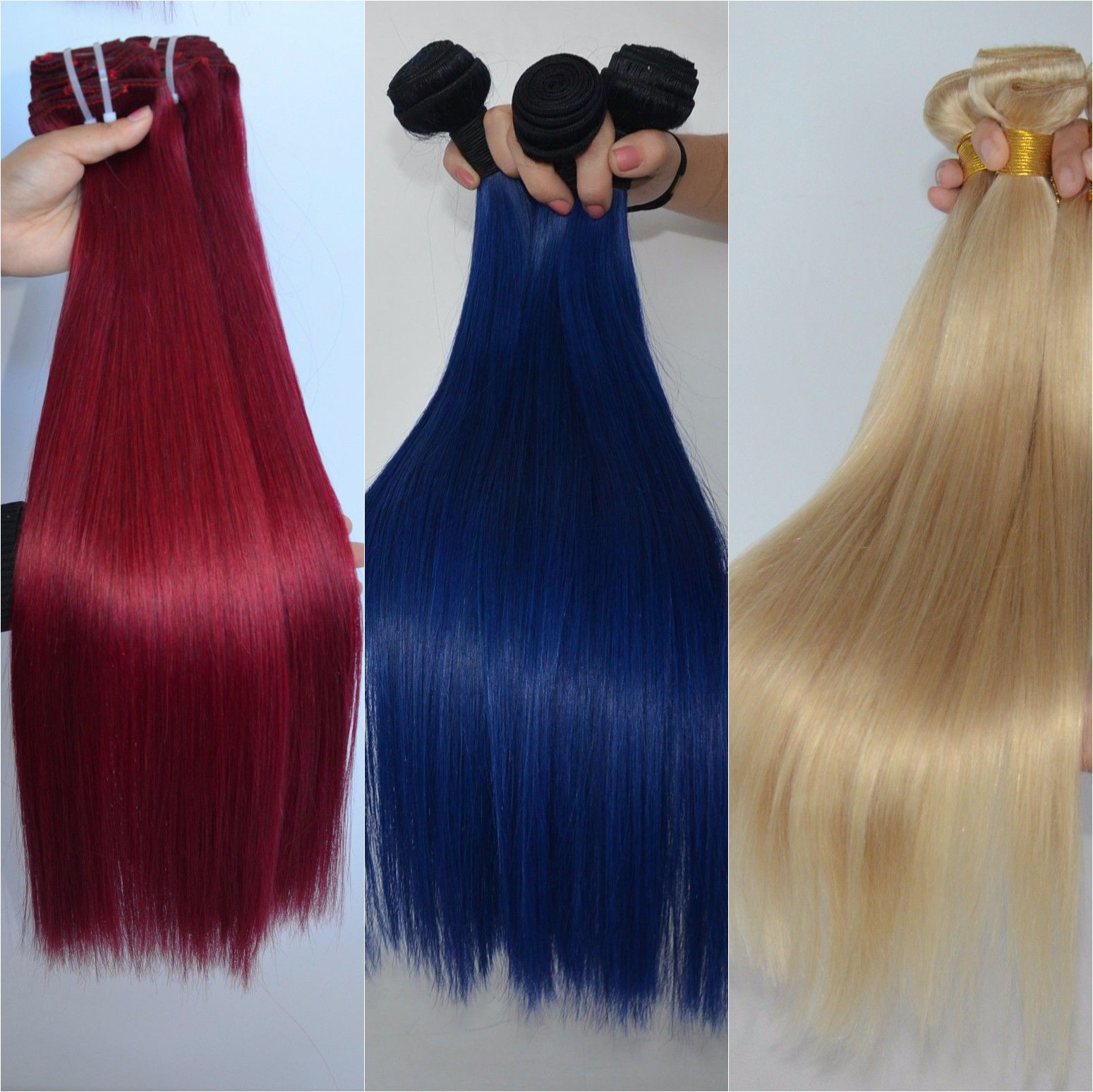 Colorful hair weave straight Brazilian hair bundles DL0013