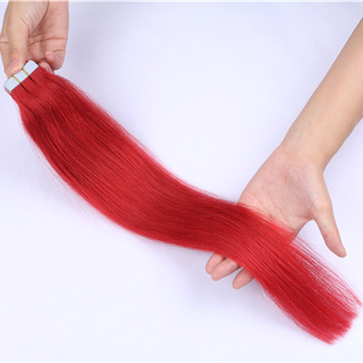RED Hair tape on,human tape in hair,tape in human hair extentions HN372