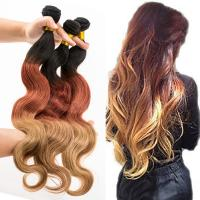 3tone ombre Brazililan virgin remy hair extensions uk YJ