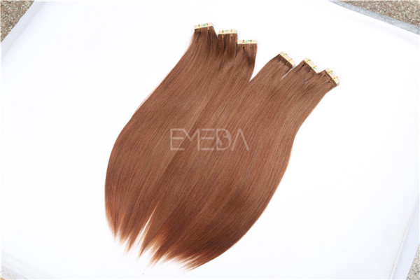Russian remy hair double drawn hair pieces, tape in hair extension ZJ0063