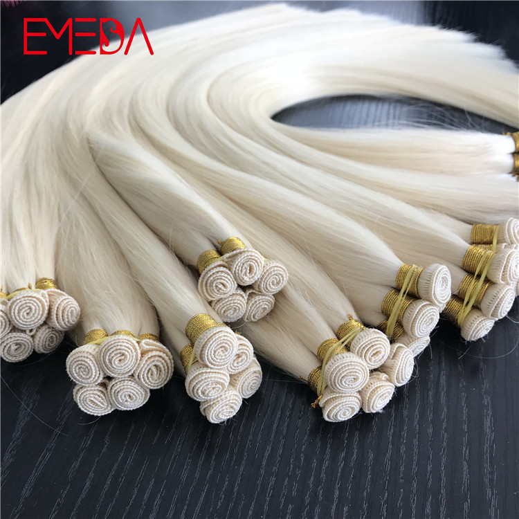 Intact cuticle one donor hand tied hair extensions manufacturers seamless hair YJ284
