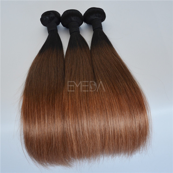 Ombre Color 3 Tone Brazilian Sew In Hair Extensions Yj156 Emeda Hair