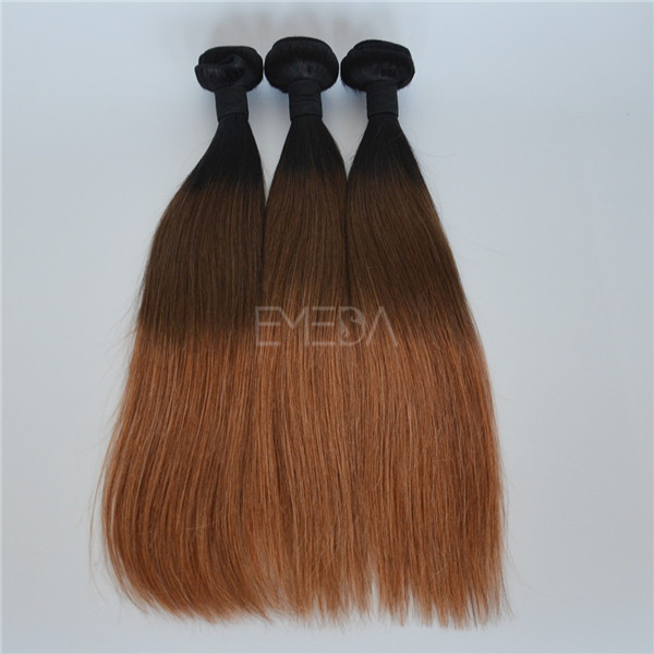 #1B/4/27 3 tone ombre Indian quality hair extensions YJ159