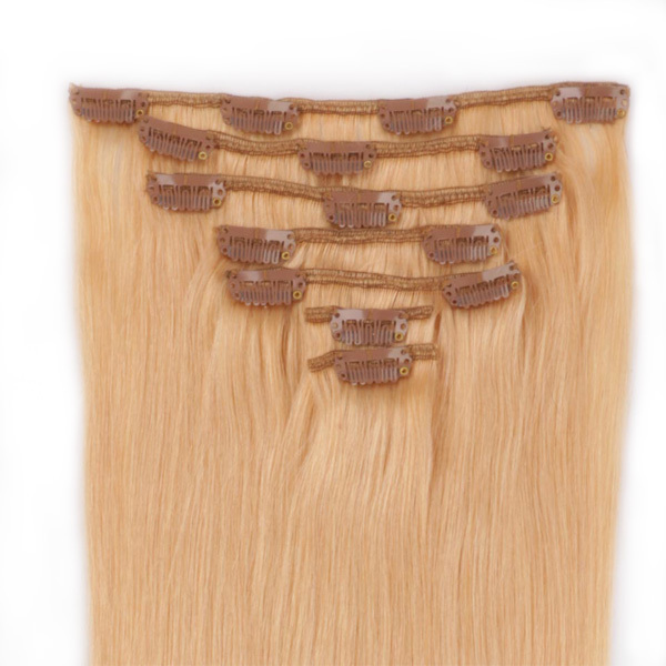 Clip in human hair extensions 70g no tangle hairs ...</>