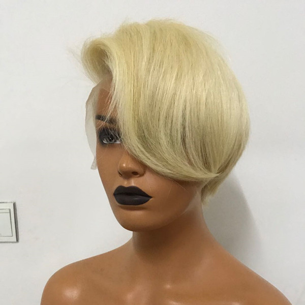 Blonde 613 Pixie Wig Straight Hair Can be Styled Wig Manufacturer WK154