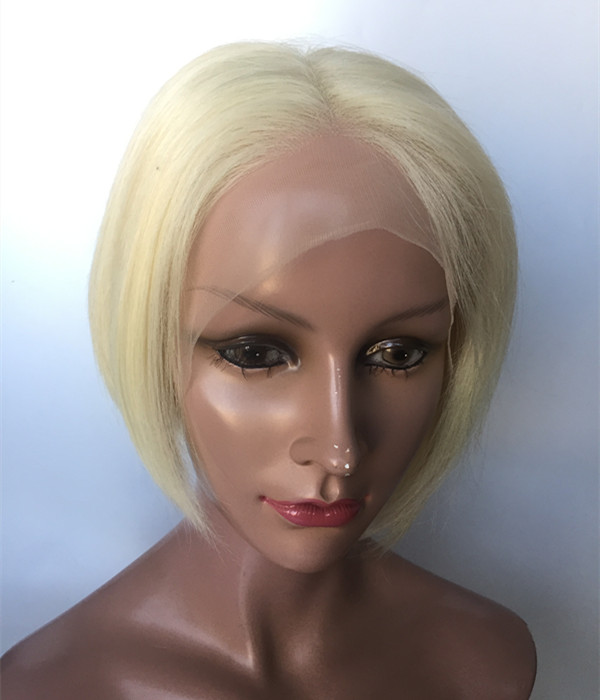 Inquiry for Short Wigs free styles Pixie Cut light blonde Curl Straight Human Hair Wig  YL386