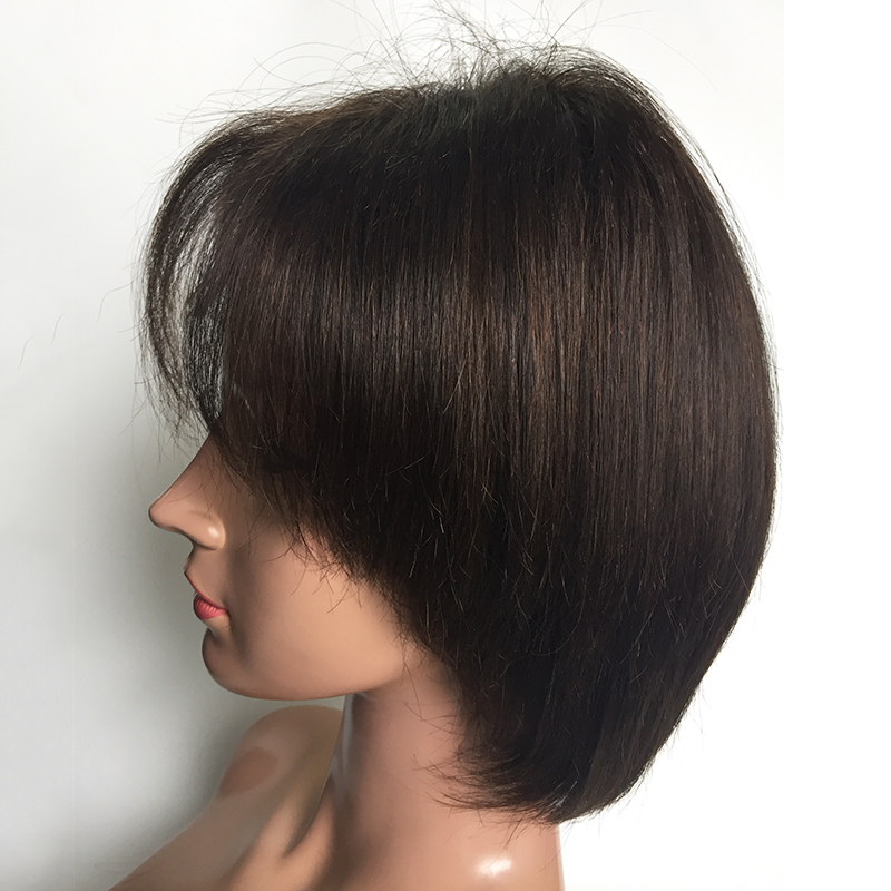 Full lace wig lace front  short wigs bob virgin hair brown colors YL413