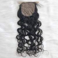 Virgin Brazilian natural wavy silk base lace closure unprocessed intact cuticle YJ293