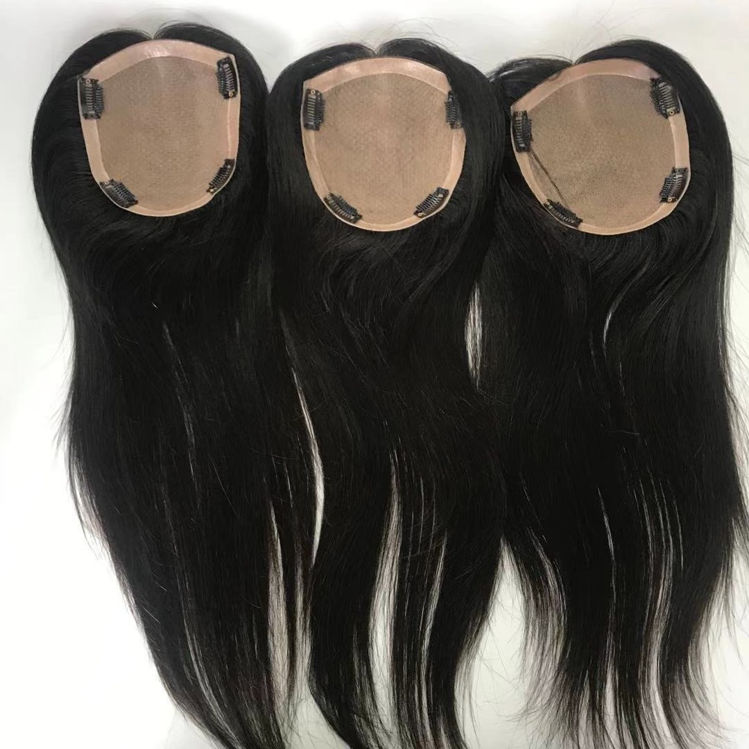 big size silk base closure woman replacement natural looking like real scalp WK248