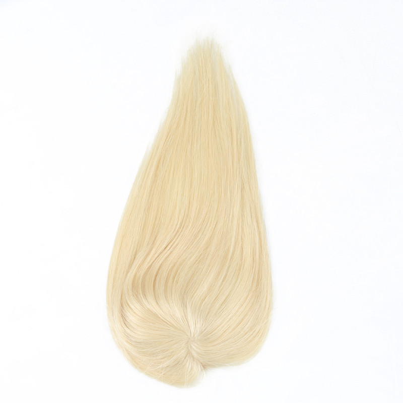 Blonde Hair Topper Clip Ins Toupee Hair For Women Brazilian Remy 100% Human Hair WK126