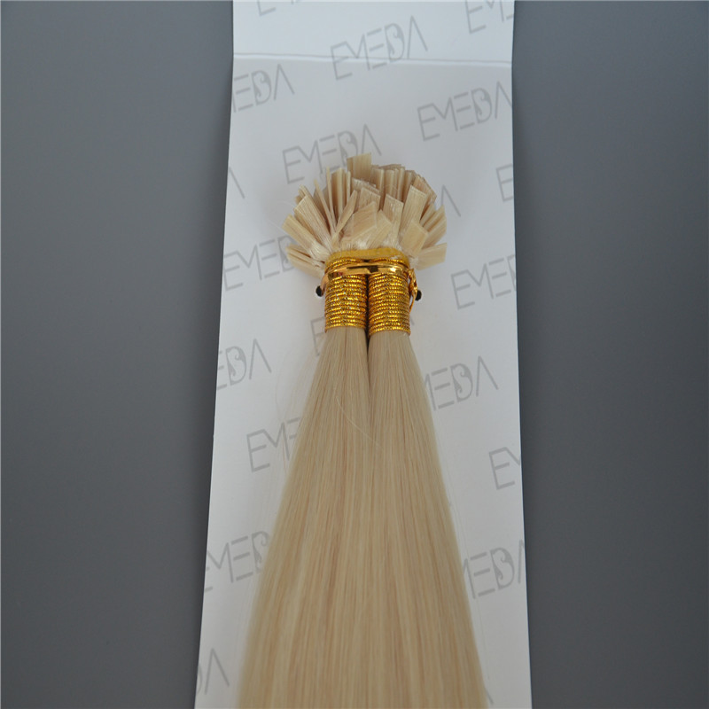 Pre Bonded Hair Extensions 8-30inch Flat Tip Blonde Hair Extensions WK094