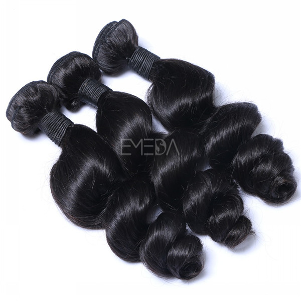Stock unprocessed human hair weave hair extension  ZJ0055